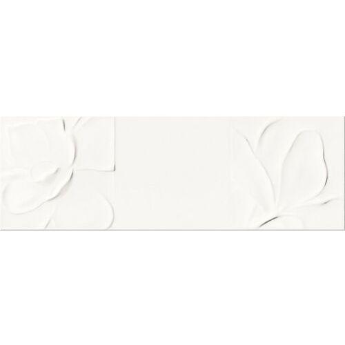 Opoczno Strukture pattern white flowers 25×75 gat ii