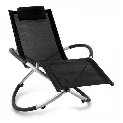 Blumfeldt chilly billy leżak ogrodowy leżak relaksacyjny aluminium czarny (4260414896552)