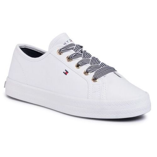 Sneakersy TOMMY HILFIGER - Essential Nautical Sneaker FW0FW04848 White YBS, kolor biały