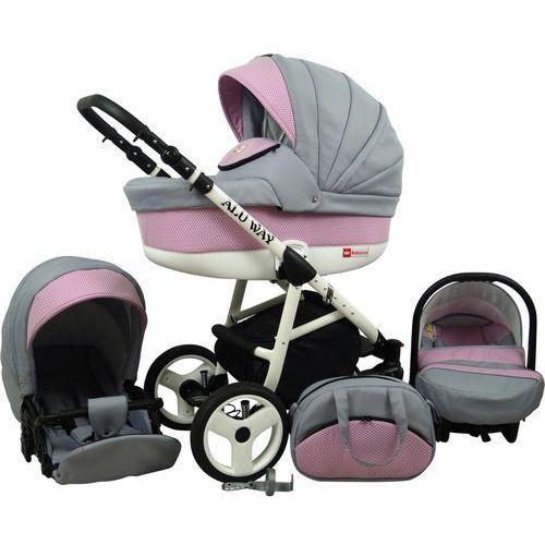 Sun baby wózek wielofunkcyjny alu way 3w1, light pink (2009957740067)