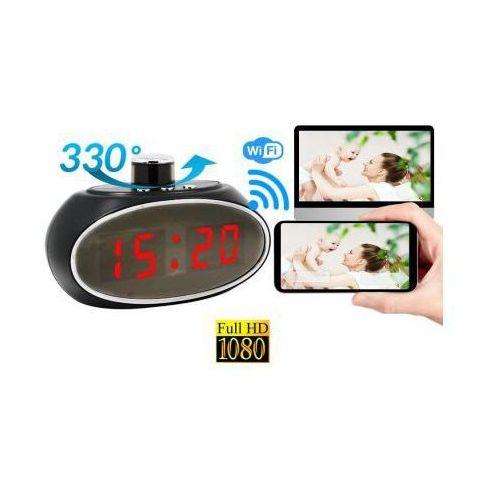 Spy Kamera obrotowa full hd wifi/p2p (cały świat) ukryta w zegarku biurkowym + zapis + detekcja ruchu...