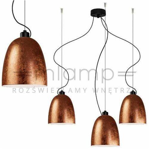 LAMPA wisząca AWA 3/S/COPPER/OPAL Sotto Luce szklana OPRAWA zwieszana miedziana, kolor Miedziany