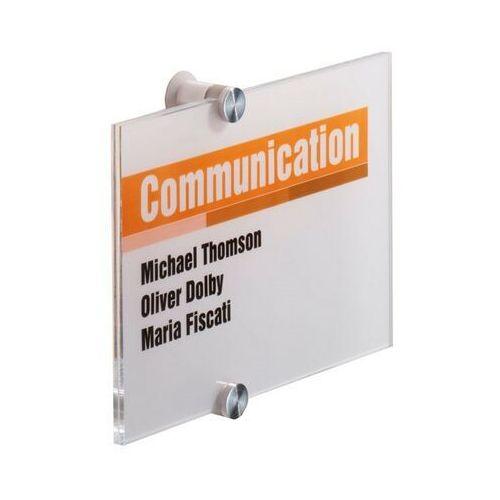 Tabliczka informacyjna crystal sign 210 x 148 mm marki Durable