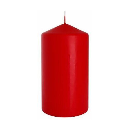 Świeca pieńkowa czerwona wys. 15 cm marki Bispol
