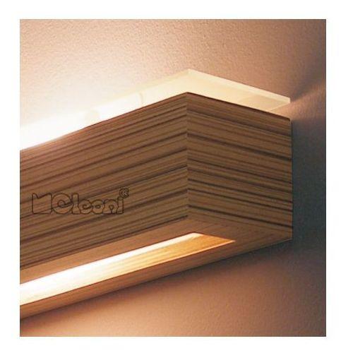 kinkiet CASPE 30 z dolnym i górnym szkłem 1xE27 ŻARÓWKA LED GRATIS!, CLEONI 8814A1+/S