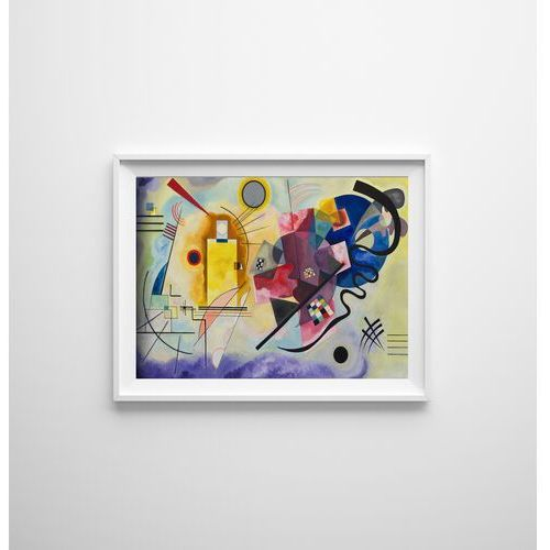 Plakat retro do salonu Plakat retro do salonu Jaune Rouge bleu Wassily Kandinsky