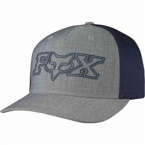 czapka z daszkiem FOX - Transistor Flexfit Heather Grey (040) rozmiar: L/XL, kolor szary