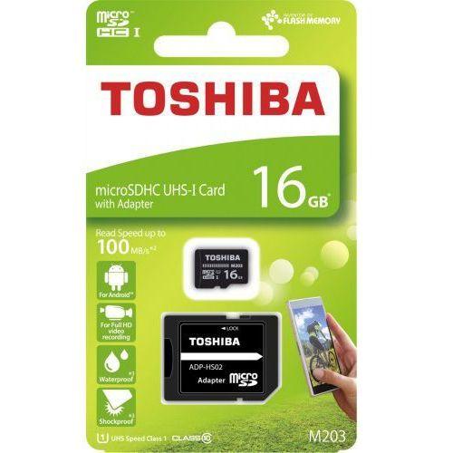 Karta pamięci 16gb cl10 + adapter marki Toshiba