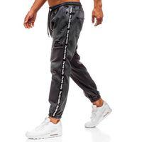 Spodnie jeansowe baggy męskie antracytowe denley 2045 marki Otantik