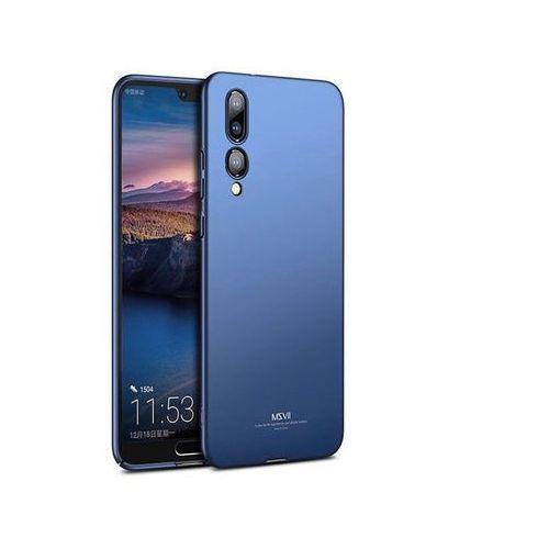 Etui MSVII Thin Case do Huawei P20 Pro niebieskie + Szkło, kolor niebieski