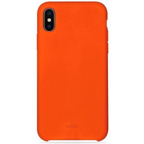 PURO ICON Cover - Etui iPhone X (pomarańczowy) Limited edition, kolor pomarańczowy