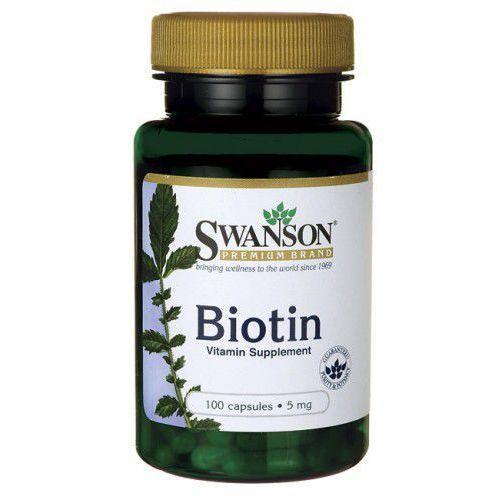 Swanson Biotyna 5mg 100 kaps. (5902729732710)