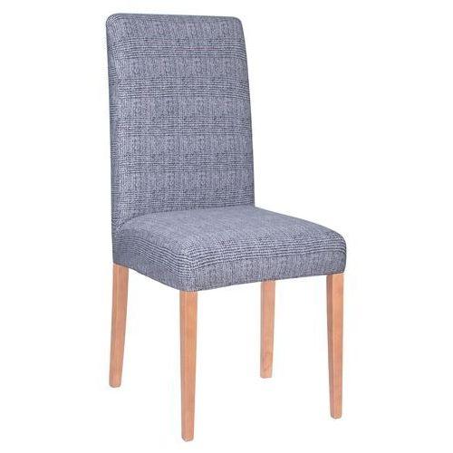 Pokrowiec na krzesło elastyczny niebieska kratka (5907719404189)