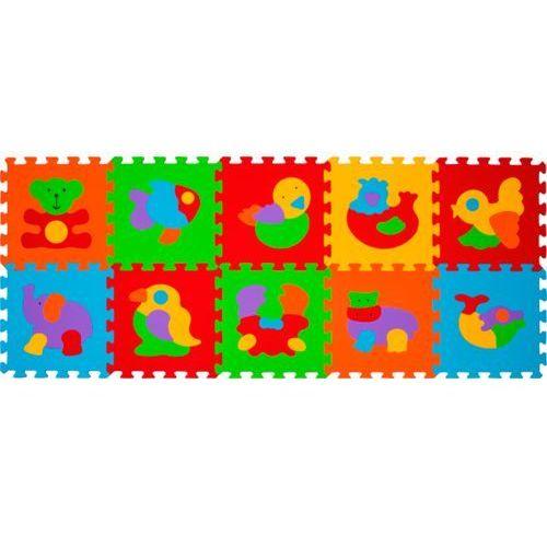 BabyOno MATA PUZZLE PIANKOWE ZWIERZĘTA 10SZT. - produkt z kategorii- Puzzle