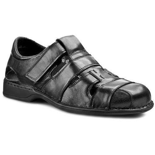 Półbuty GREGOR - 01245-ME-K10 Czarny, kolor czarny