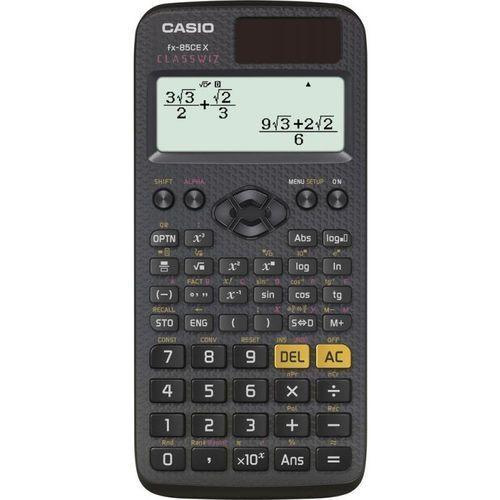 Kalkulator Casio, FX 85 CE X, czarna, szkolny, + gratis słuchawki Maxell (4549526602023)
