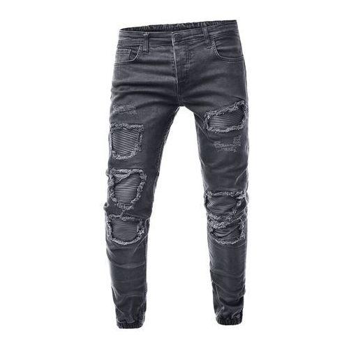 Spodnie jeansowe męskie joggery - ta42a, jeans
