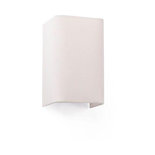 Lampa ścienna Cotton, kątowa, 20 x 12 cm, beżowa