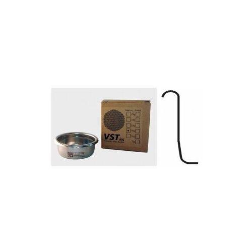 Precyzyjny filtr ze stali nierdzewnej do espresso vst 18 gram - gładki (bez wypustki z boku) marki Vst inc