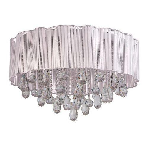 Mw-light Prosta i elegancka biała lampa sufitowa z kryształami (465012920)