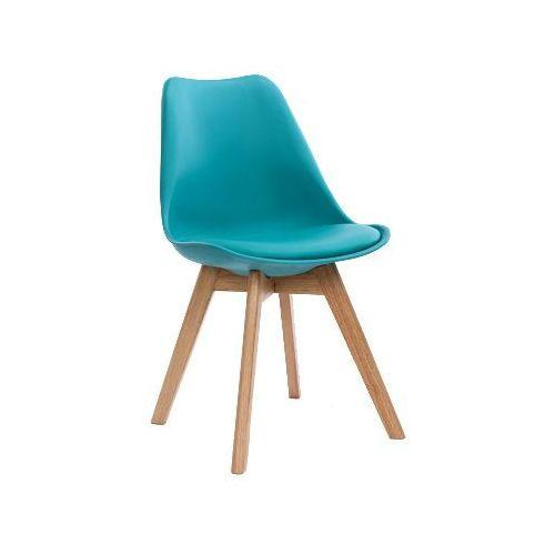 Krzesło nordic turkusowe z poduszką marki Kh
