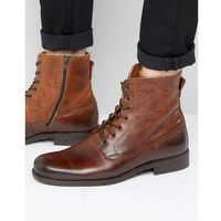 Zign leather lace up boots - brown