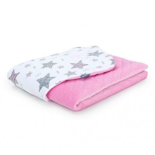 Kocyk dla niemowląt i dzieci velvet pikowany dwustronny 75x100 - Starmix Różowy - Róż, KOC M-T VELVET 8600