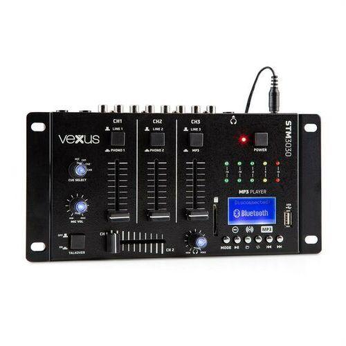 Vexus STM3030 4-kanałowy stół mikserski Bluetooth USB SD MP3 LED