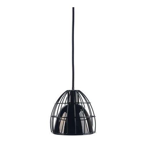 LAMPA wisząca FRAME M 10338102 Kaspa szklana OPRAWA kopuła retro ZWIS klatka drut czarny (5902047301667)