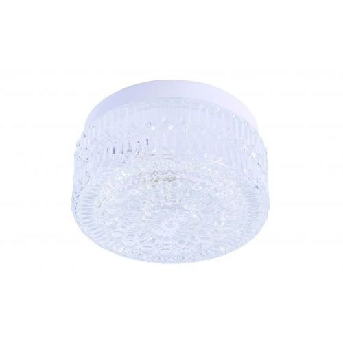 Rabalux Plafon lampa sufitowa grace 1x60w e27 biały / przezroczysty 2435 (5998250324357)