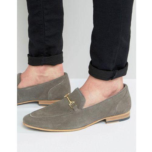 Kg kurt geiger Kg by kurt geiger buckle loafers in grey suede - grey