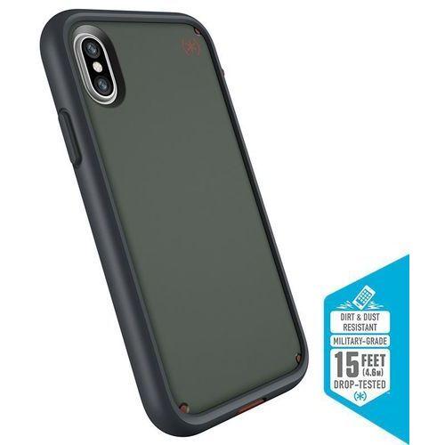 Speck presidio ultra etui pancerne iphone x (field grey/terracotta red/asphalt grey) z uchwytem do paska & podstawka