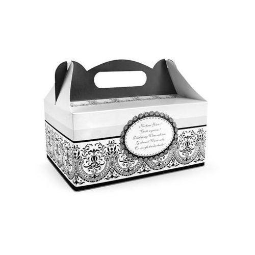 Ozdobne pudełko na ciasto weselne 1sztuka (5901157433138)