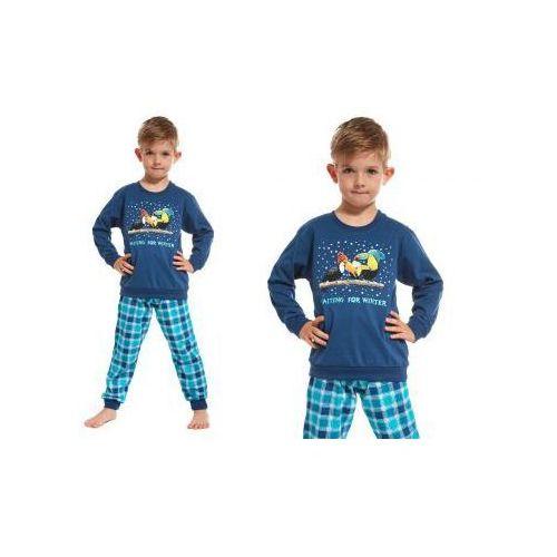 Piżama dziecięca RICKI: granat, kolor niebieski