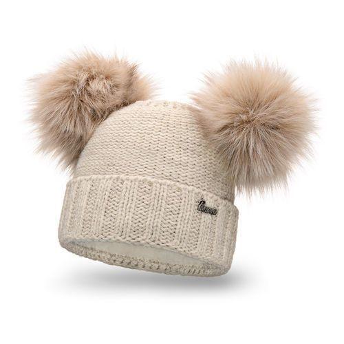 Pamami Zimowa czapka damska - beżowy - beżowy