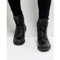 leather chunky lace up boots - black marki Zign
