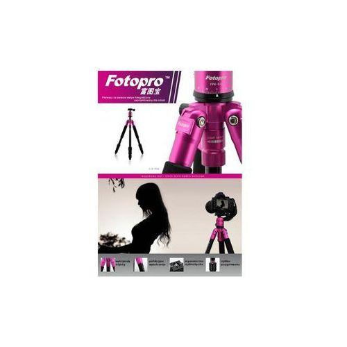 Statyw fotograficzny c4i + głowica fph-53p - różowy marki Fotopro