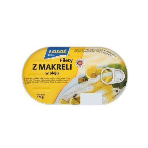 Filety z makreli w oleju 170 g Łosoś Ustka