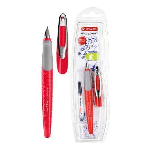 Herlitz Pióro my.pen czerwono-szary leworęczne - czerwono-szary (2501234500161)