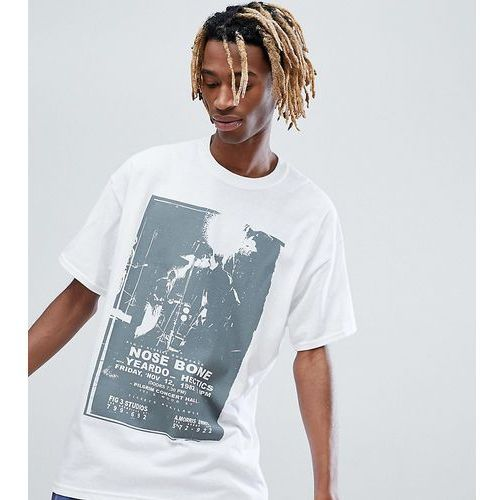 inspired short sleeve t-shirt with graphic print - white, Reclaimed vintage, S-L