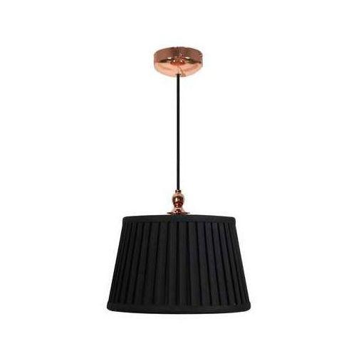Abażurowa LAMPA wisząca AMORE 31-39378 Candellux plisowana OPRAWA zwis czarny (5906714839378)