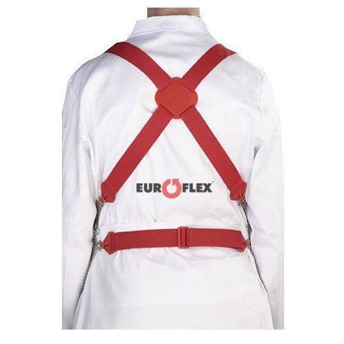 Zestaw szelek do metalowego fartucha ochronnego em 8560, poliuretanowe, czerwone, kbg60rtpu marki Euroflex