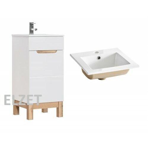 Comad szafka bali white + umywalka square 40 bali 823 + cfp-9048b