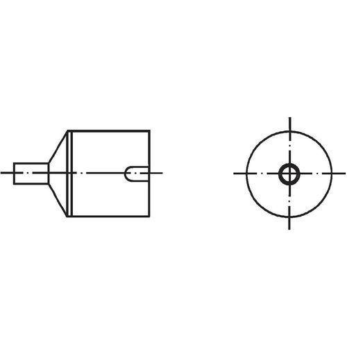 Dysza gorącego powietrza Weller NR05, T0058736867N Dysza powietrzna, 4 mm, 1 szt., NR05
