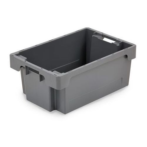 Obrotowy pojemnik do ustawiania w stos z HDPE, poj. 40 l, ścianki i dno zamknięt