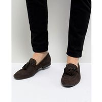 Dune Tassel Loafers In Brown Suede - Brown
