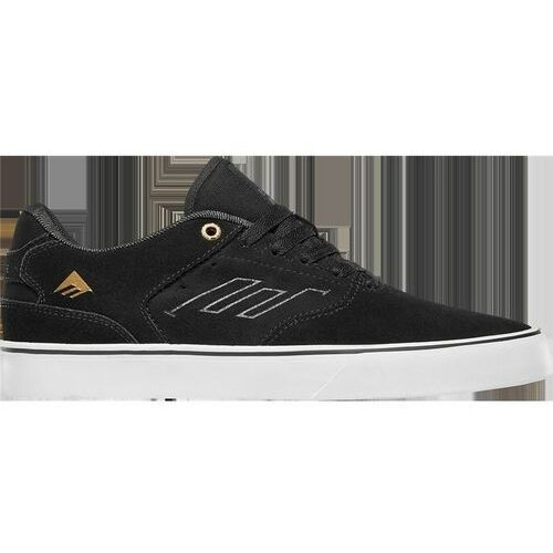 buty EMERICA - The Reynolds Low Vulc Black/Gold/White (973) rozmiar: 42,5, kolor biały