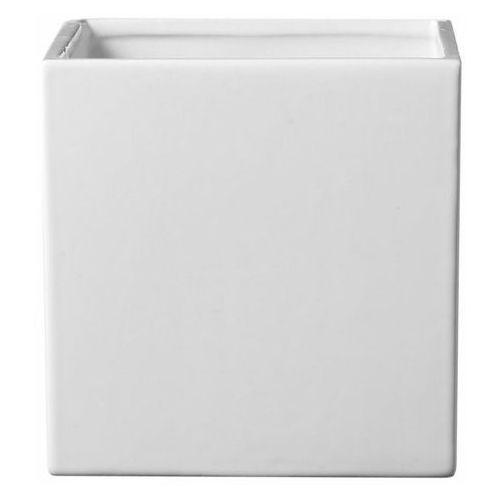 Sk soendgen keramik Osłonka doniczki latina kwadratowa 13 cm biała (4006063252819)