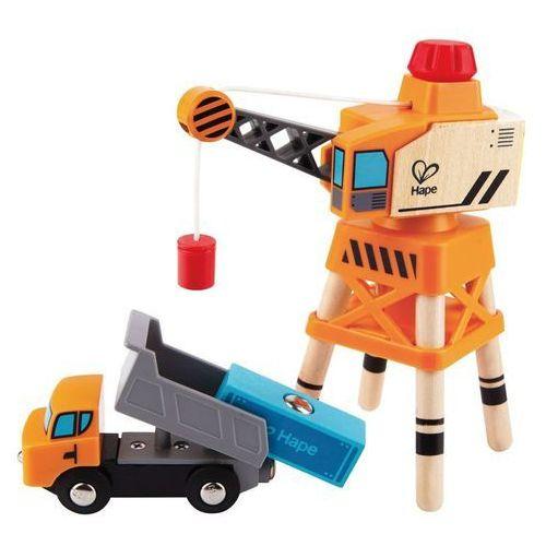 Hape zabawkowy dźwig-żuraw, duży, e3715