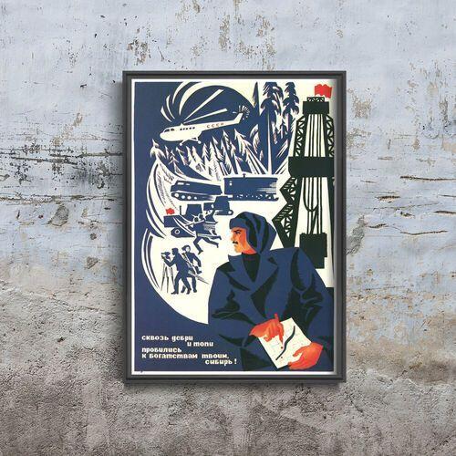 Plakat do pokoju plakat do pokoju radziecki druk propagandowy marki Vintageposteria.pl